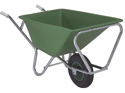 Heavy Duty Wheelbarrow/Feed Cart - Single Wheel