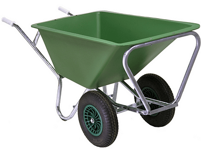 Heavy Duty Wheelbarrow/Feed Cart - Double Wheel